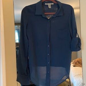 American Rag translucent button down Size S